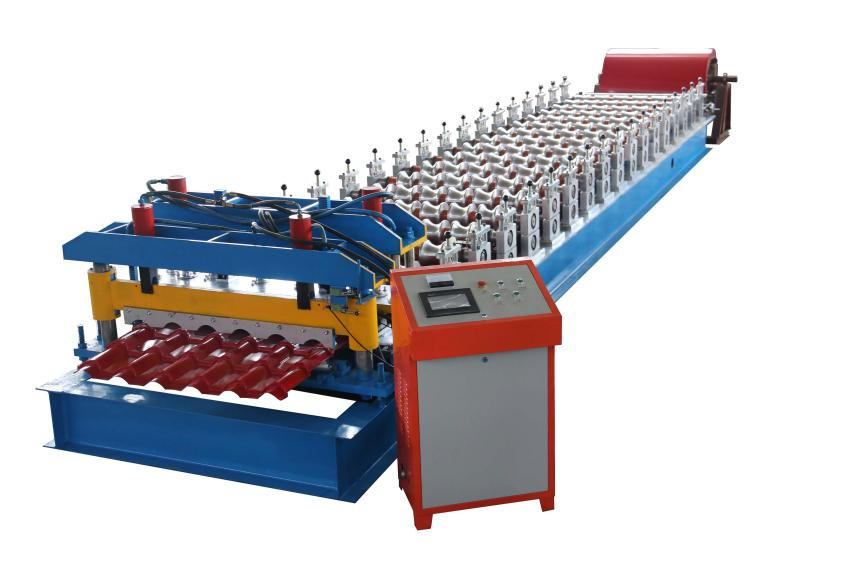 900 Steel Tile Roll Forming Machine 1 - Roofing sheet roll forming machine