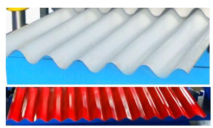 Corrugated panel roof sheet roll forming machine 1 - Corrugated panel roof sheet roll forming machine