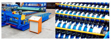 Corrugated panel roof sheet roll forming machine 2 - Corrugated panel roof sheet roll forming machine