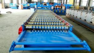 Corrugated roll forming machine 5 300x169 - Trapezoid roof roll forming machine