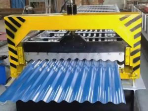 Corrugated roll forming machine 7 300x225 - Galvanized steel corrugated panels