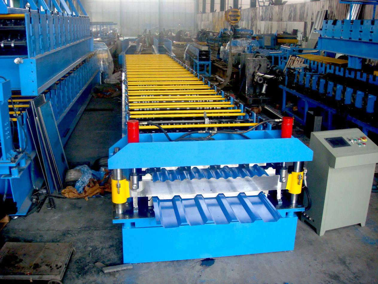 Double layer roll forming machine 1 - Steel roof roll forming machine