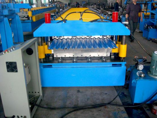 Steel roof roll forming machine1 - Modular Steel Roof Tile Roll Forming Machine