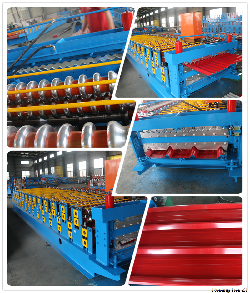 doublelayermachine thumb - Round wave and corrugated sheet double layer roofing sheet rolling forming machine