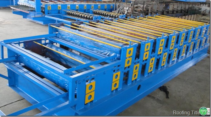 mainrollingformingmachine thumb - Double layer roofing sheet rolling machine of R1000& C1000 Super Six drawing profile