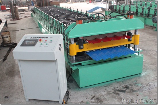 IMG 4158 thumb - Color Steel Wave Roof Panel Roll Forming Machine
