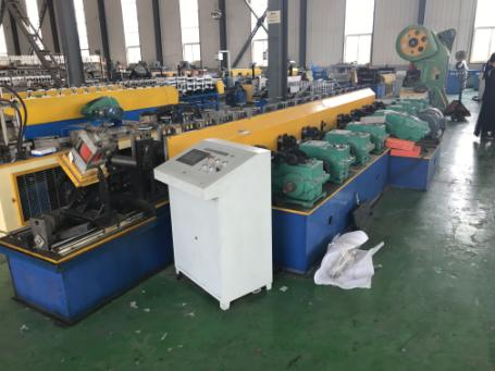 Slotted solar panel support strut roll forming machine 1 - Slotted Solar Panel Support Strut Roll Forming Machine