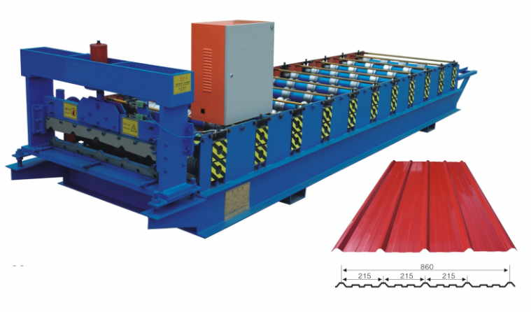 860 IBR roofing sheet making machine - Steel IBR roofing sheet making machine for sale
