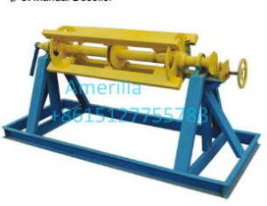 5T manual decoiler 副本 300x232 - Trapezoidal shape and step tile roofing sheet machine