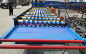 roof panel roll forming machine 300x188 - High quality trapezoidal roof sheet making equipment