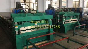 metal tile effect roofing sheets roll forming machine 300x169 - Roll forming machine