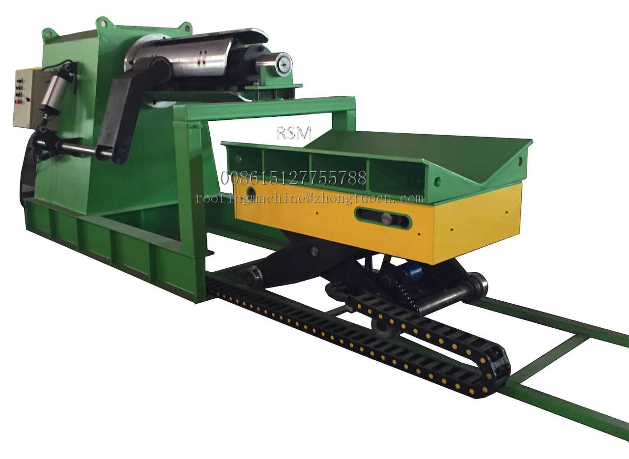 10 Ton hydraulic decoiler with the loading car