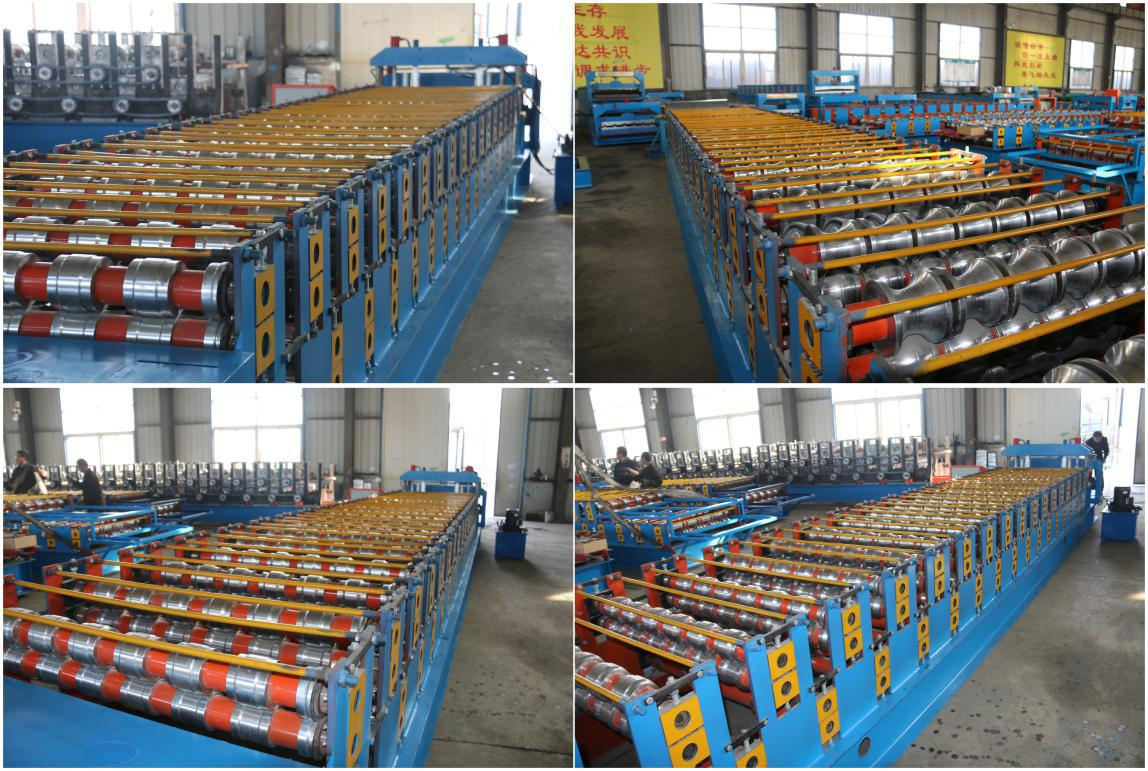 double layer roofing sheet machine for glazed tile and round wave_details