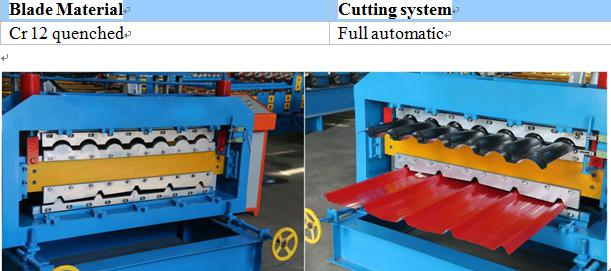 double layer roofing sheet machine for glazed tile and round wave_blade