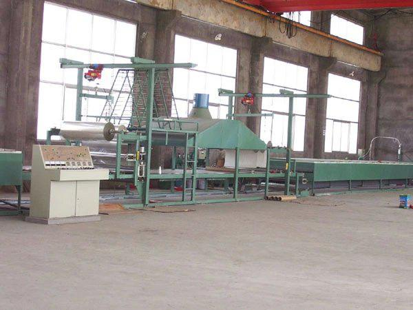 Flat FRP sheet production line