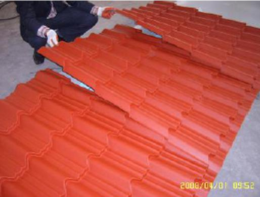 How to step the roofing sheet correctly