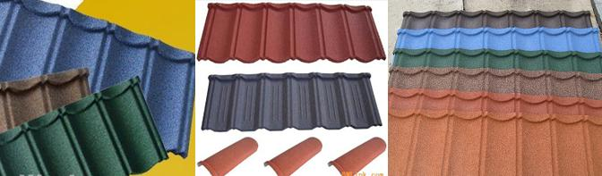 Stone coated roofing tile machine_finished products