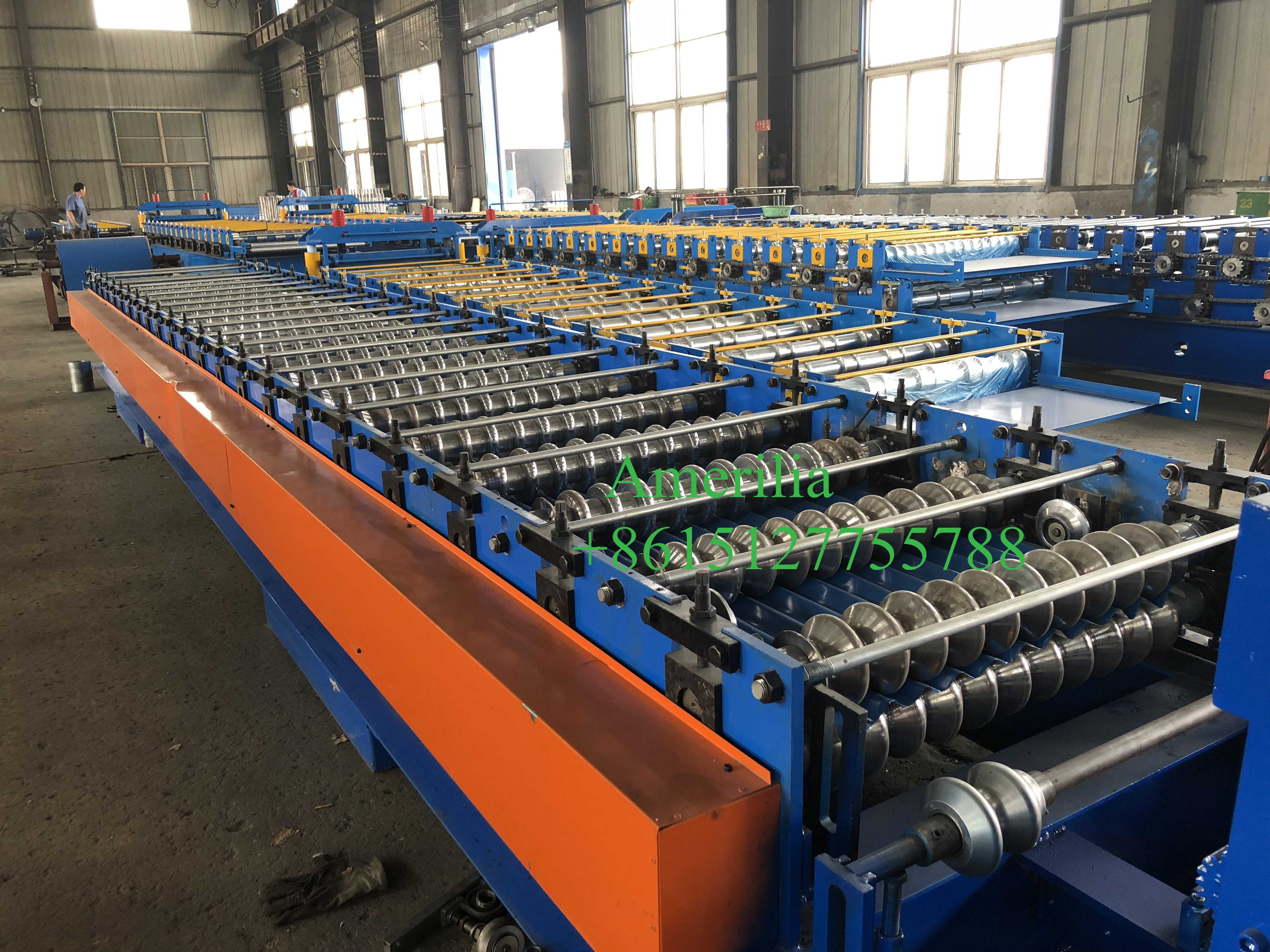 corrugated  metal roof sheet machine