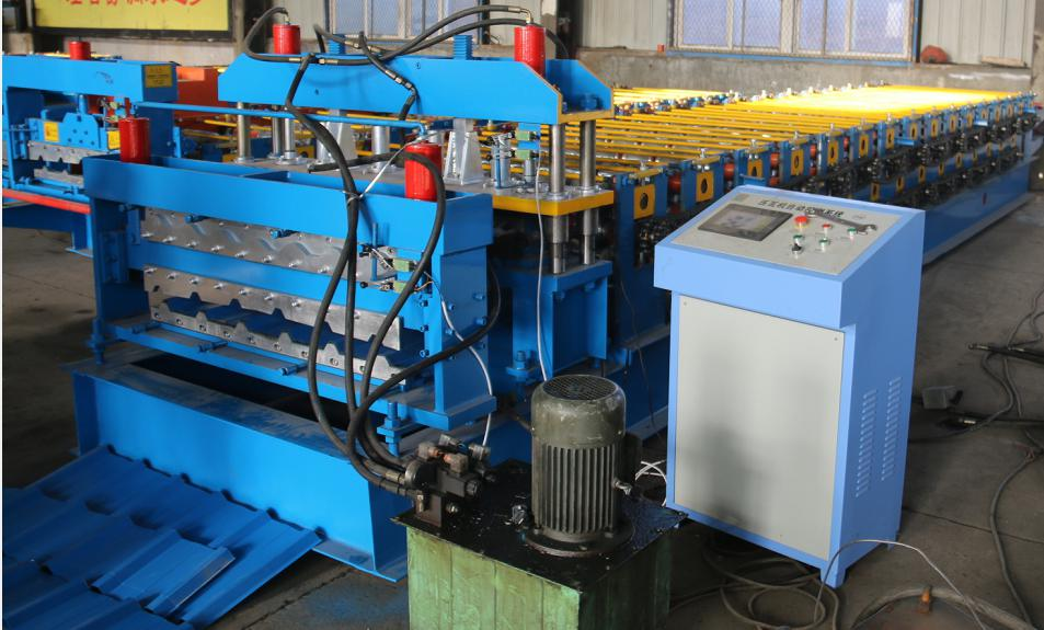 double layer roofing sheet machine for glazed tile and round wave_main