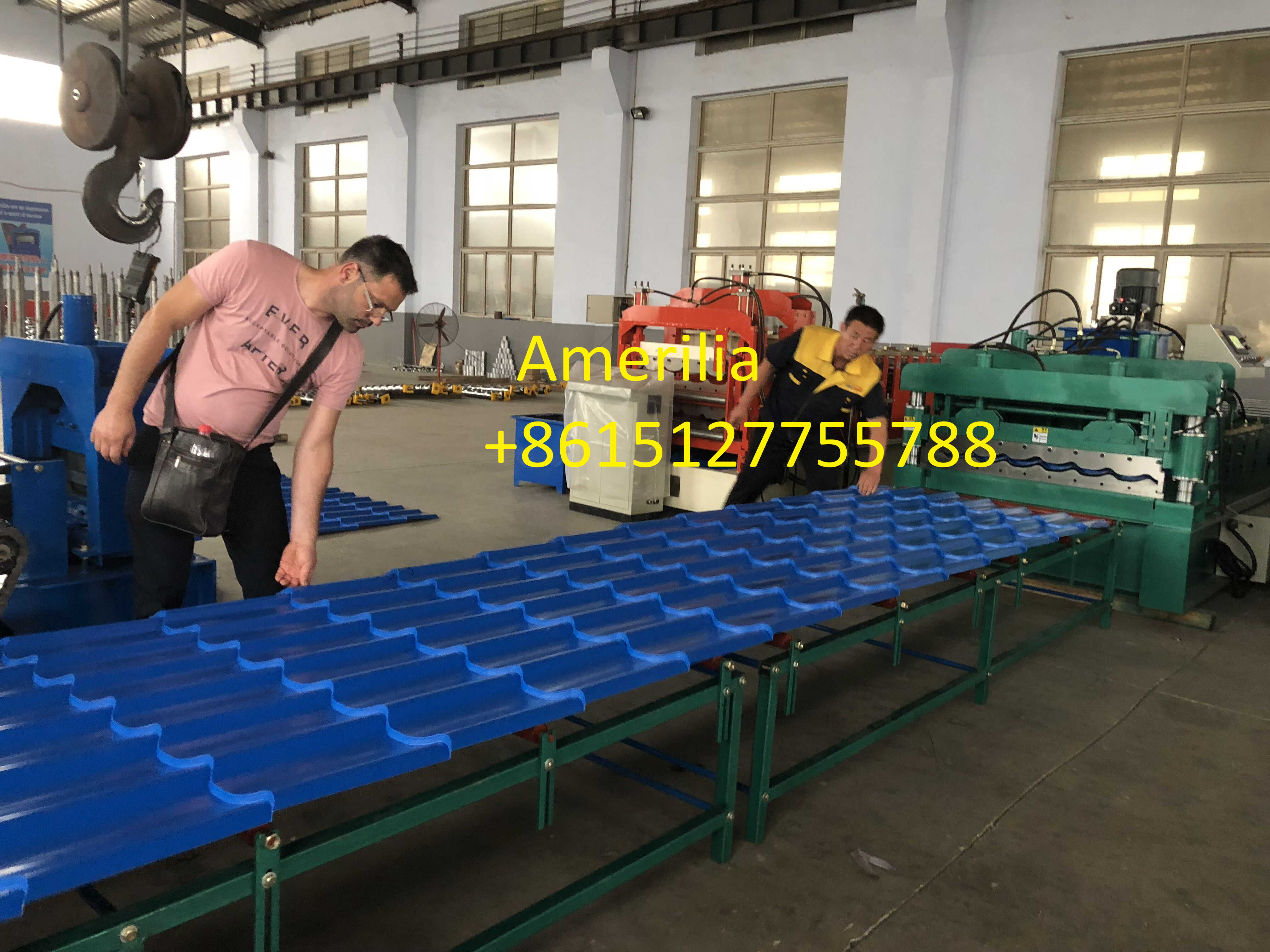 galvanized steel roof tile machine